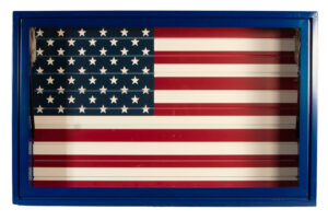 Blue Display Vault American Flag