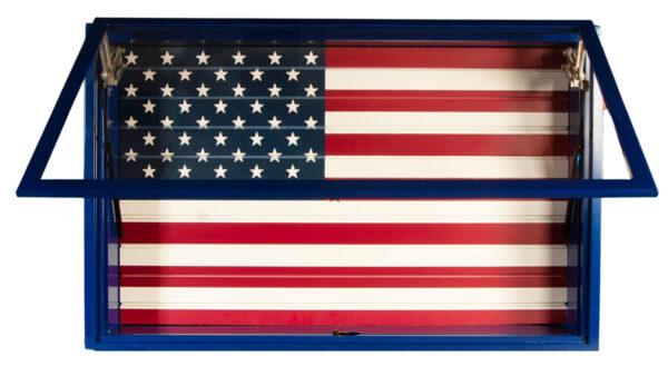 Open Blue Display Vault American Flag