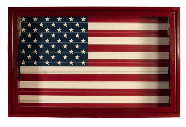 Red Display Vault American Flag