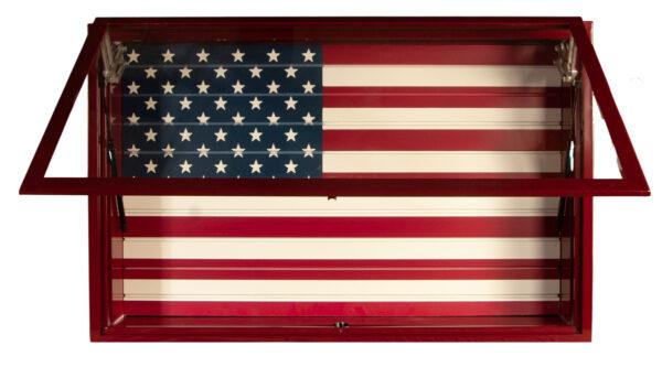 Open Red Display Vault American Flag